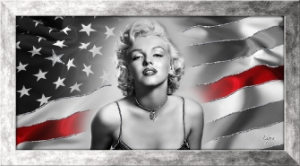 MARILYN AND FLAG - Argento