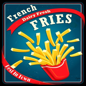 FRENCH FRIES Black