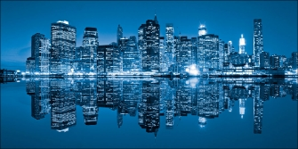 BLUE VIEW OF NEW YORK