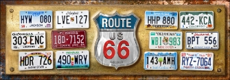 TARGHE ROUTE 66