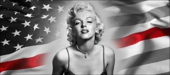 MARILYN AND FLAG