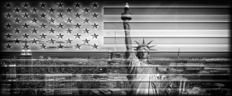 LIBERTY IN FLAG