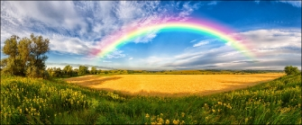 ARCOBALENO IN CAMPAGNA