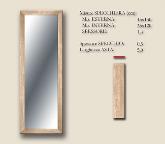 MIRROR BOSTON CHAMPAGNE 45x130