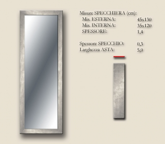 MIRROR BOSTON SILVER 45x130