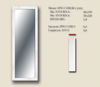 MIRROR BOSTON WHITE 45x130